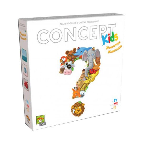 Концепт за деца: Животни - детска настолна игра