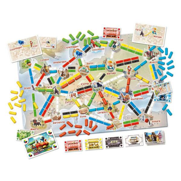 Билет за път - Първото пътешествие - детска бордова игра - компоненти