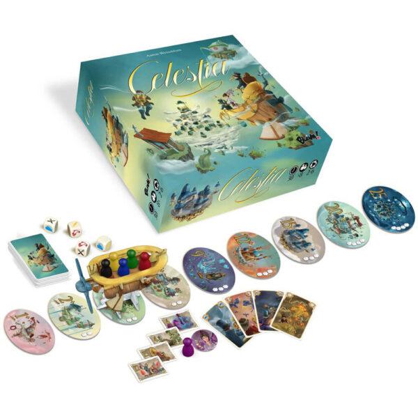 Celestia - семейна настолна игра - компоненти