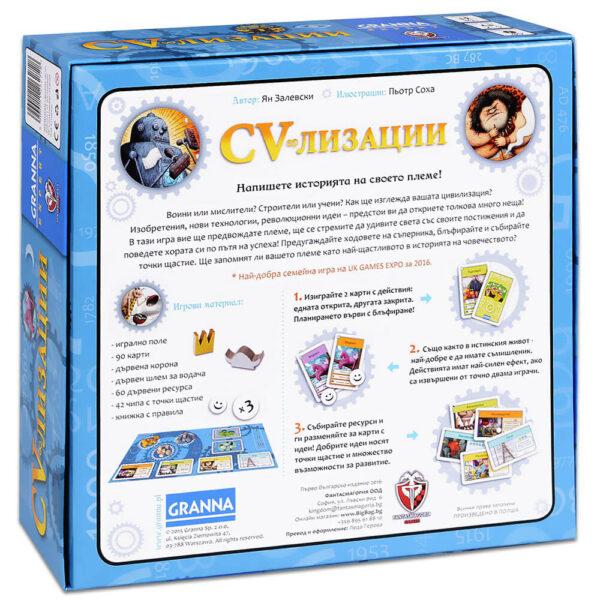 CV-лизации - семейна игра - гръб