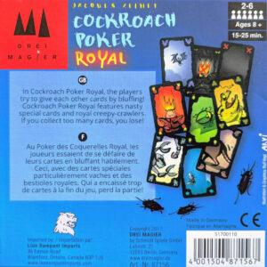 Cockroach Poker Royal - Парти настолна игра - гръб