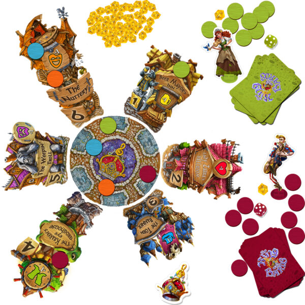 Кралят на Бардовете - бордова игра - компоненти