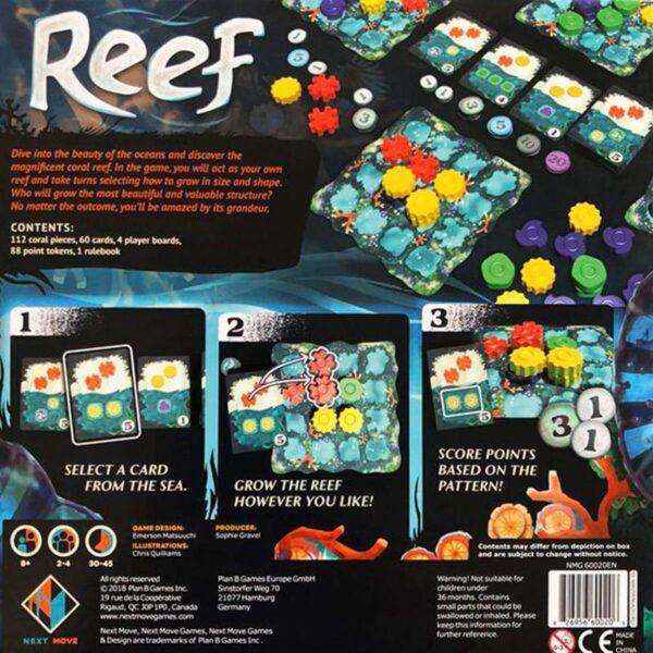 Reef - Семейна настолна игра - гръб