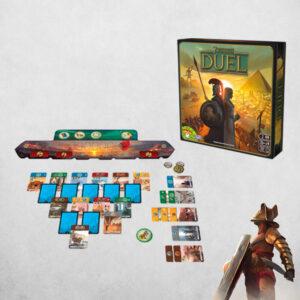 7 Wonders Duel - стратегическа игра - компоненти