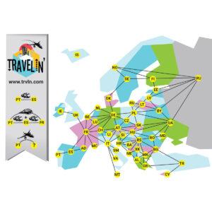 Travelin' - настолна игра - карта