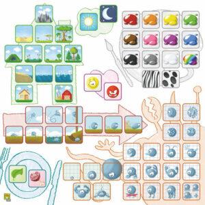 Концепт за деца: Животни - детска настолна игра - компоненти