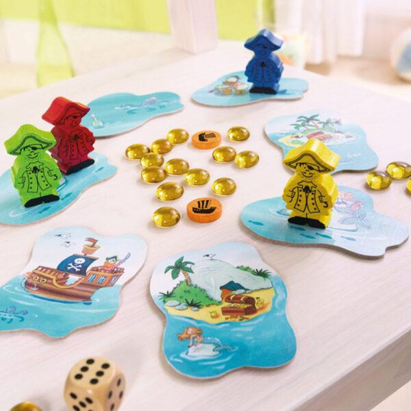 Пирати късметлии - детска настолна игра - компоненти