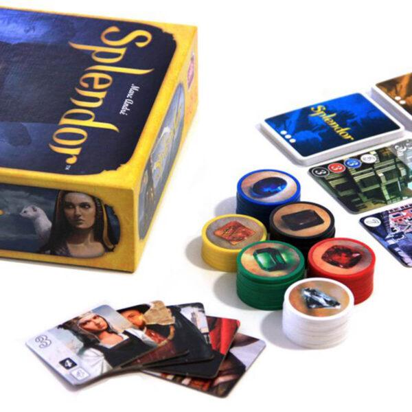 Splendor - семейна настолна игра - компоненти