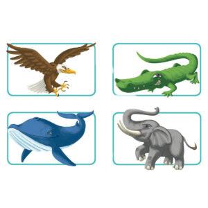 Концепт за деца: Животни - детска настолна игра - арт
