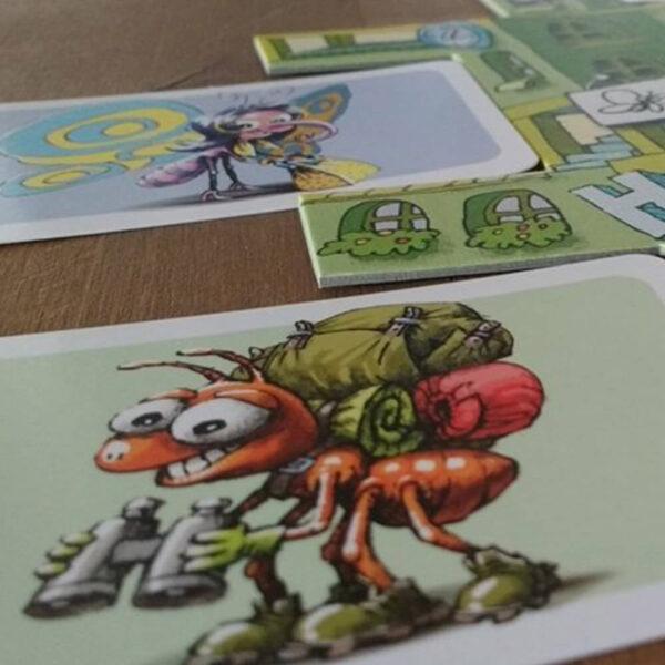 Хотел за буболечки - семейна настолна игра - компоненти
