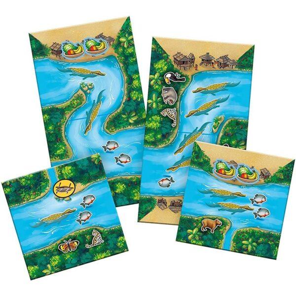 Плочки от Каркасон Амазонка настолна игра