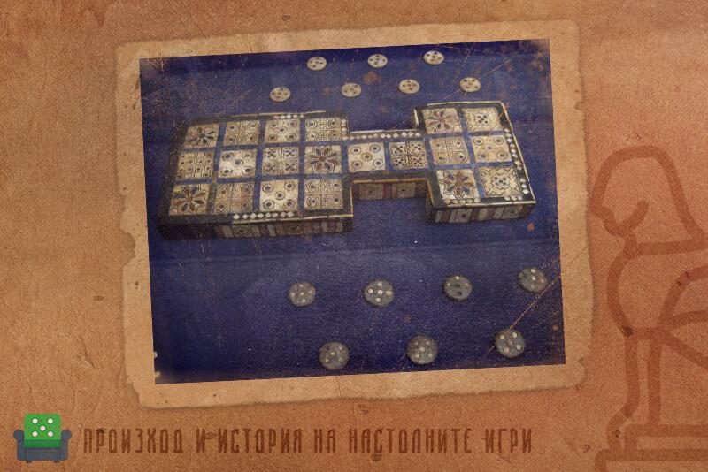 В Кралската игра на Ур - игрално поле