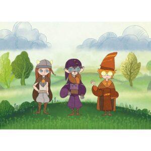 Приключение с дракон - книга-игра - герои