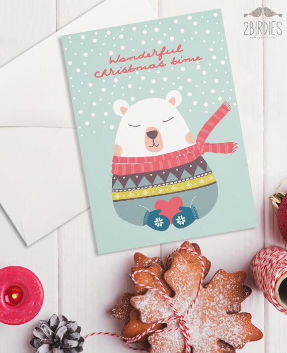 Картичка Wonderful Christmas Time