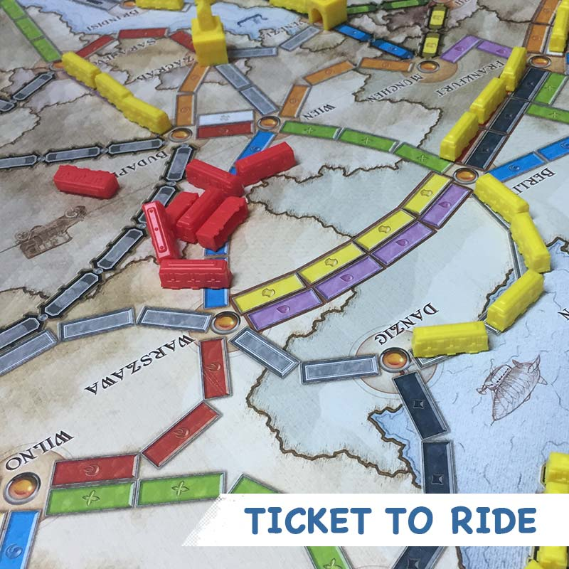 Ticket to Ride: Europе игрално поле