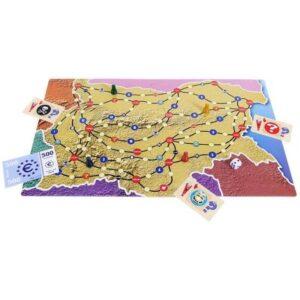 България - История и география - детска настолна игра - карта
