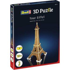 Мини пъзел 3D - Айфелова кула - кутия