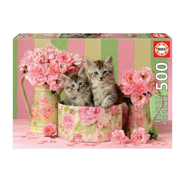Котенца сред рози - кутия