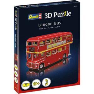 Мини пъзел 3D - Лондонски автобус - кутия