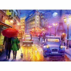Нощен Париж - пъзел - картина