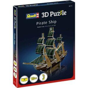Мини пъзел 3D - Пиратски кораб - кутия