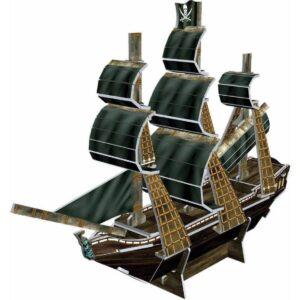 Мини пъзел 3D - Пиратски кораб - макет