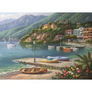 Пъзел - Пристанищен залив - картина