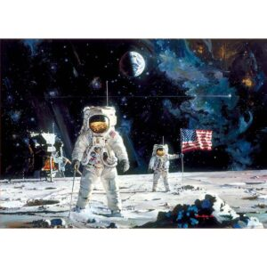 Първият мож, кацнал на Луната - картина