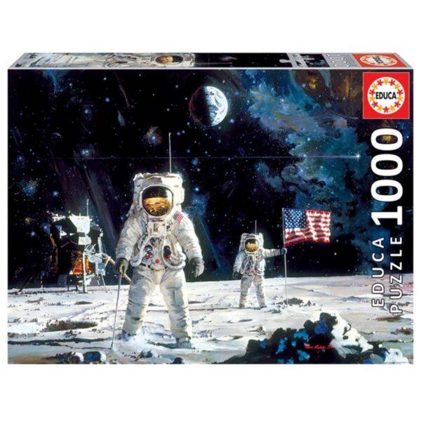 Първият мож, кацнал на Луната - кутия