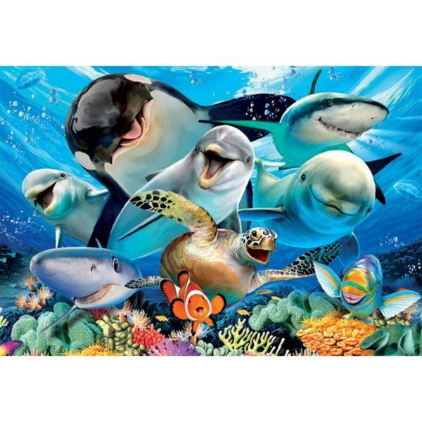 Селфи под водата - картина