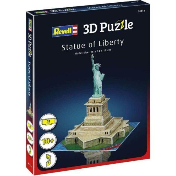 Мини пъзел 3D - Статуята на свободата - кутия
