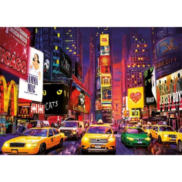 Таймс Скуеър, Ню Йорк - неонов пъзел - картина