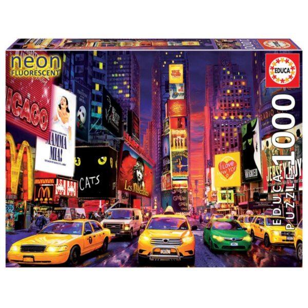 Таймс Скуеър, Ню Йорк - неонов пъзел - кутия