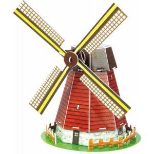Мини пъзел 3D - Вятърна мелница - макет