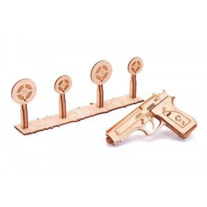 Дървен конструктор Gun M1