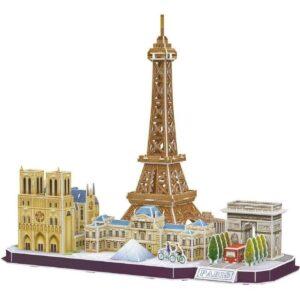 Пъзел 3D - Забележителности в Париж - кутия