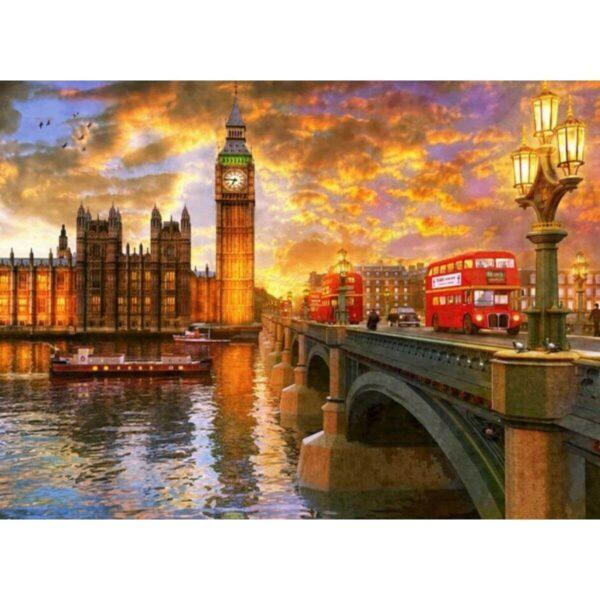 Залез в Лондон - картина