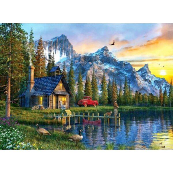 Залез в планината - картина