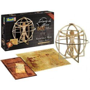 Дървен макет: Витрувианския човек - компоненти