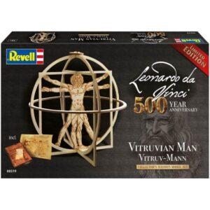 Дървен макет: Витрувианския човек - кутия