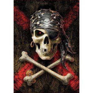 Пиратски череп - 500 части - картина