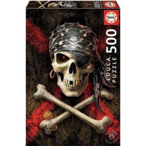 Пиратски череп - 500 части - кутия