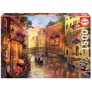 Залез във Венеция - 1500 части - кутия
