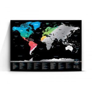 Скреч карта 101 - Цветна - постер