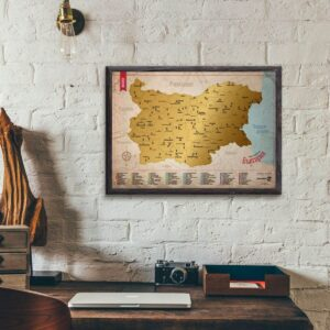 Скреч карта България Класик - постер