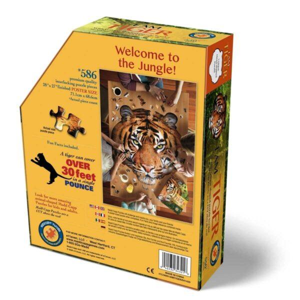 WOW пъзел - Тигър - кутия - гръб