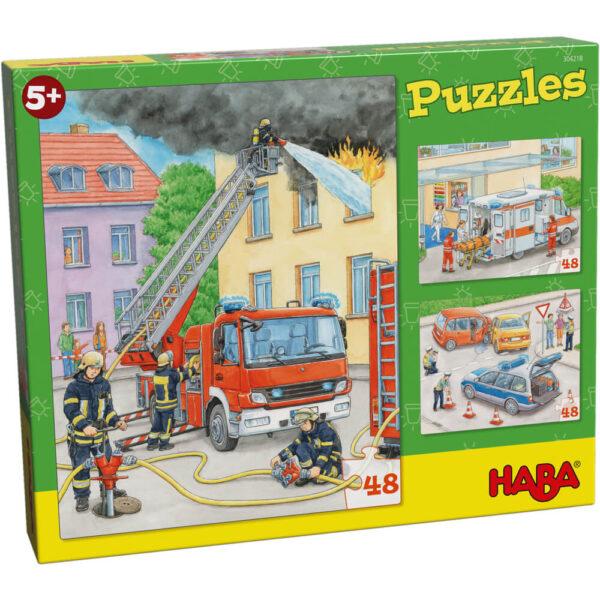 Детски пъзел Haba - Професии - кутия