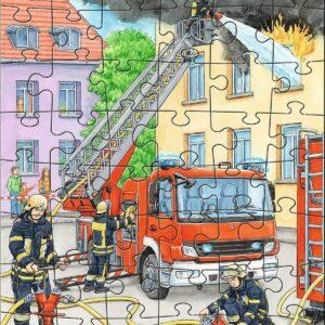 Детски пъзел Haba - Професии - пожарна