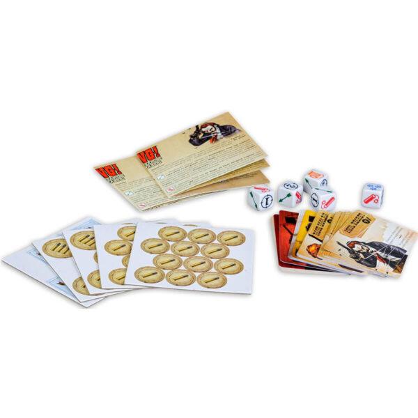 Компоненти на BANG - игра със зарове