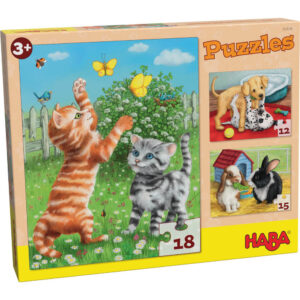 Пъзел Haba - Домашни животни - кутия